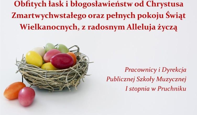 Życzenia Wielkanoc 2019 Pruchnik