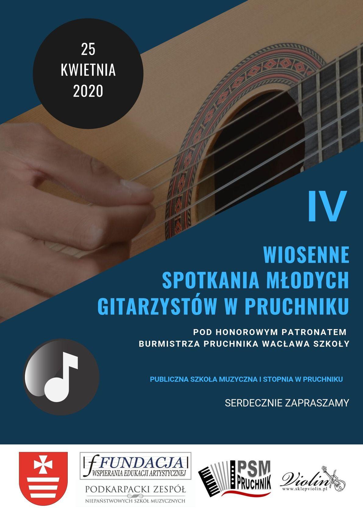Plakat WWW - IV Wiosenne Spotkania Młodych Gitarzystów (4)