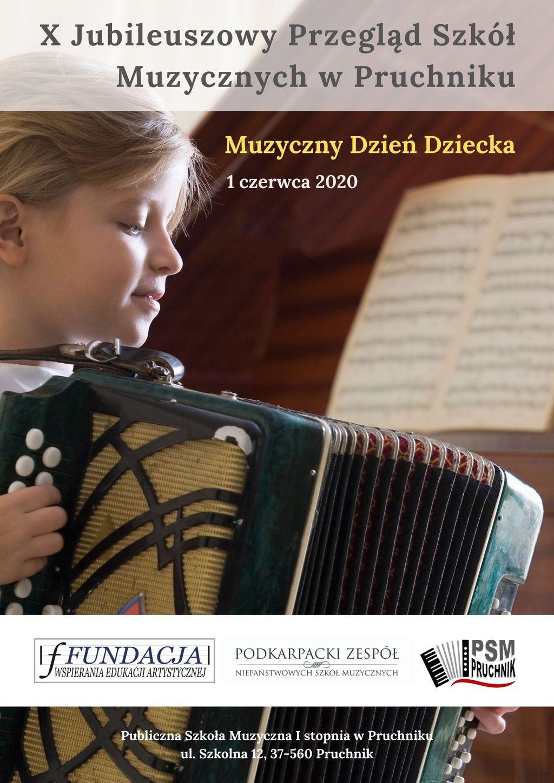 Plakat WWW - X Jubileuszowy Przegląd Szkół Muzycznych w Pruchniku