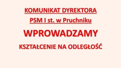 Komunikat dyrektora PSM Pruchnik - TOP