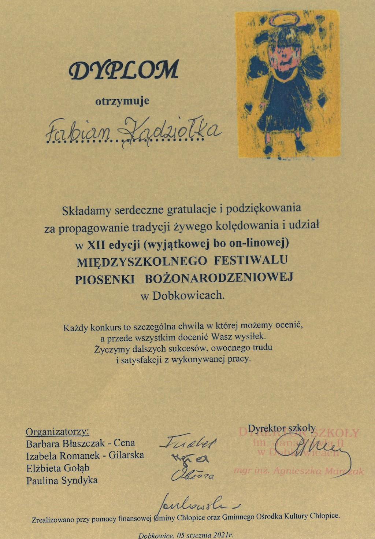 Dyplom Fabian