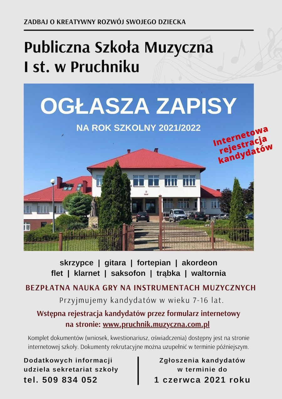 Rekrutacja - PSM Pruchnik 2021/2022