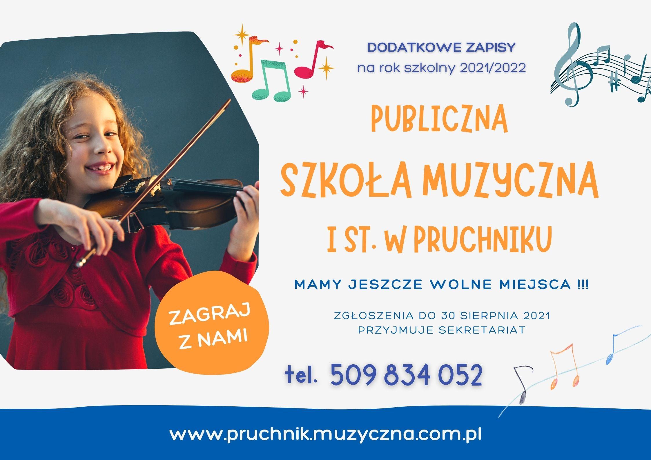 Reklama Szkoły Muzycznej - Pruchnik